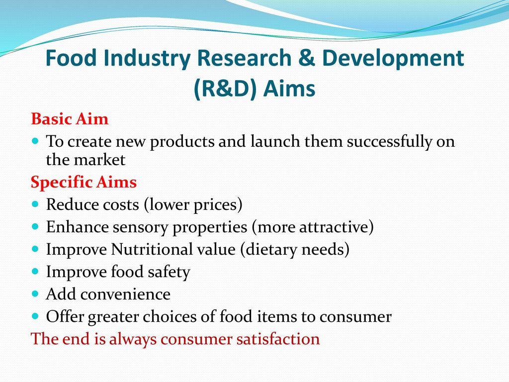 FOOD INDUSTRY RESEARCH AND DEVELOPMENT - ppt download