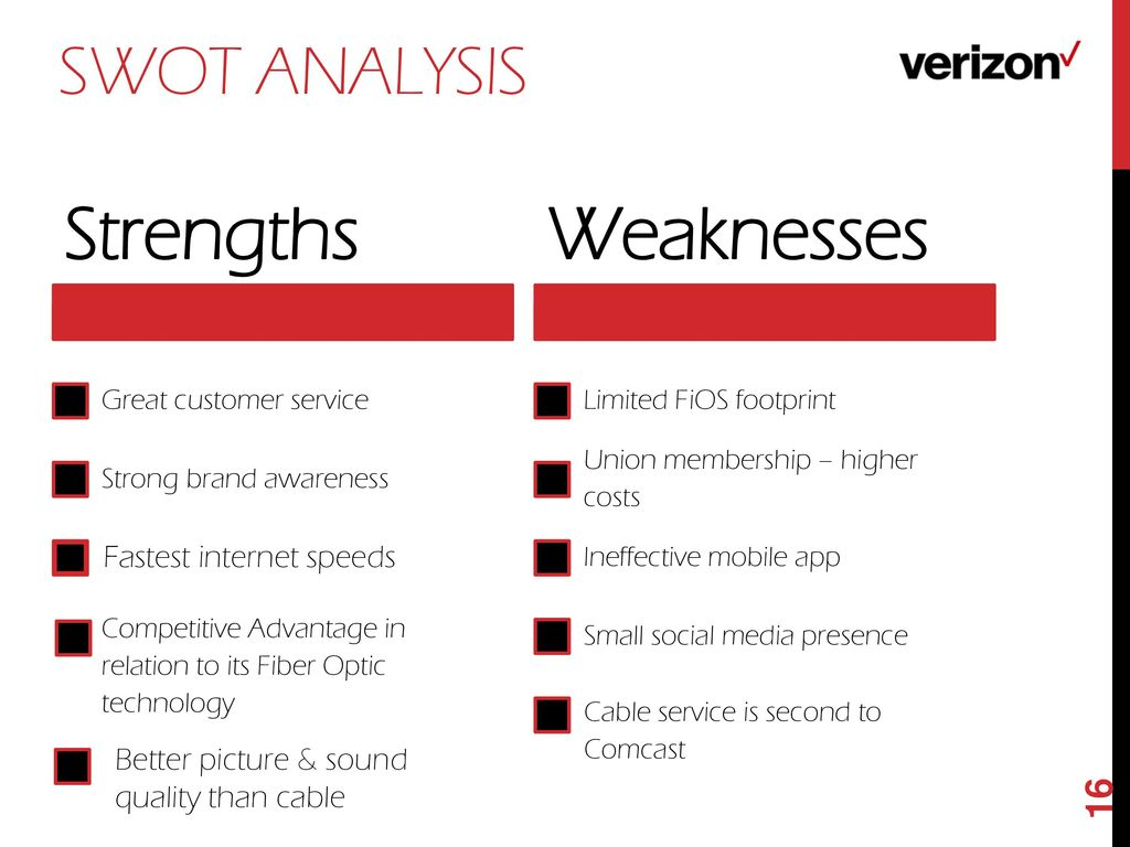 verizon wireless swot