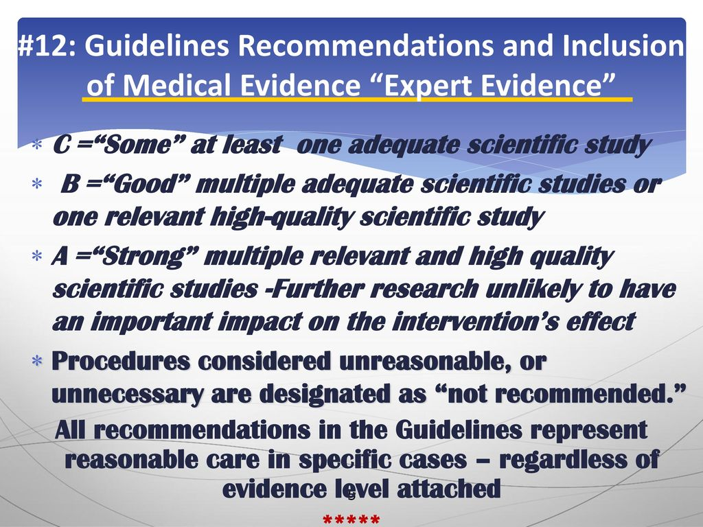 The Myth Busters: Evidenced-Based Guidelines in Practice Kathryn