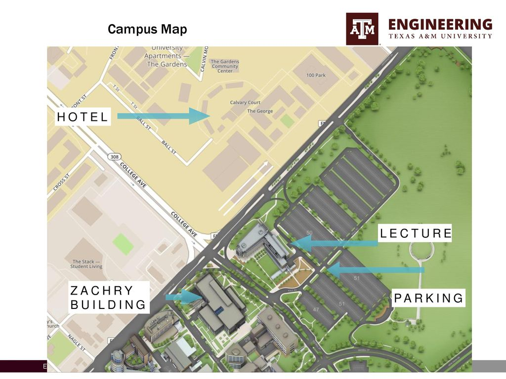 Texas Am Campus Map.Proposal For The 11th Annual North American School Of Information