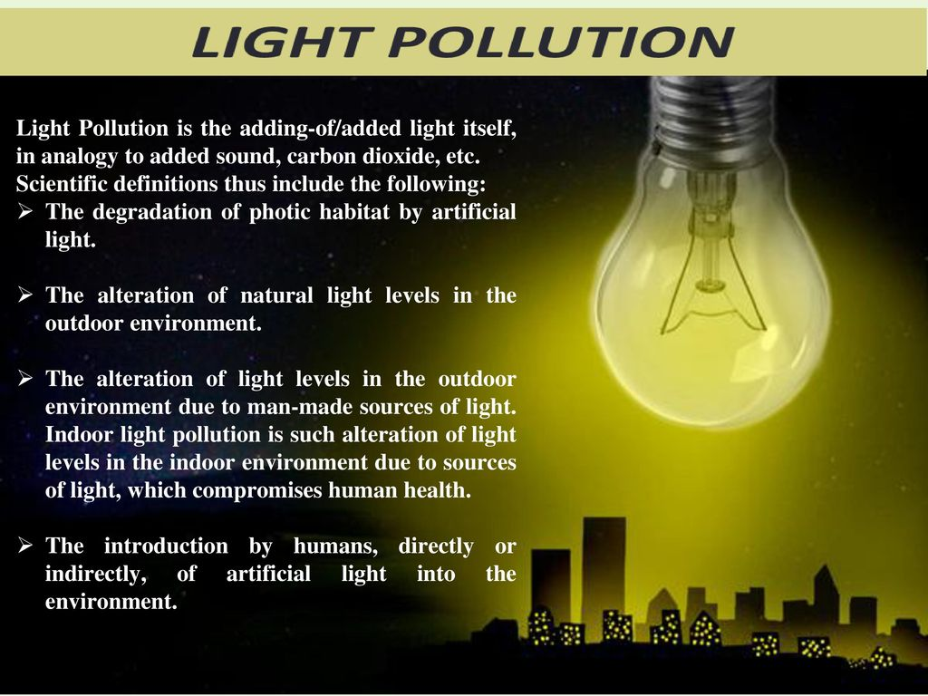 LIGHT POLLUTION AND THE ECOSYSTEM - ppt download