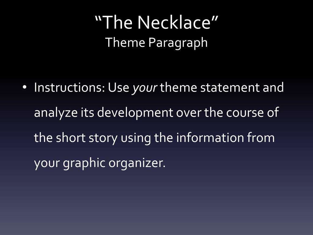 the necklace theme statement
