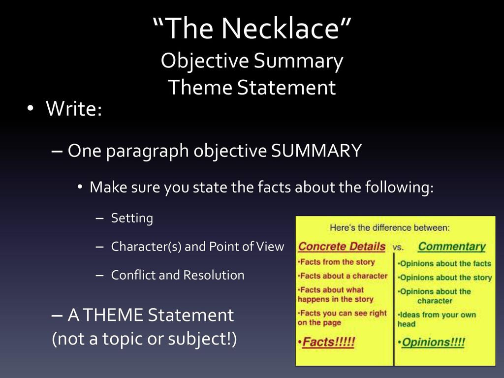 the necklace conflict
