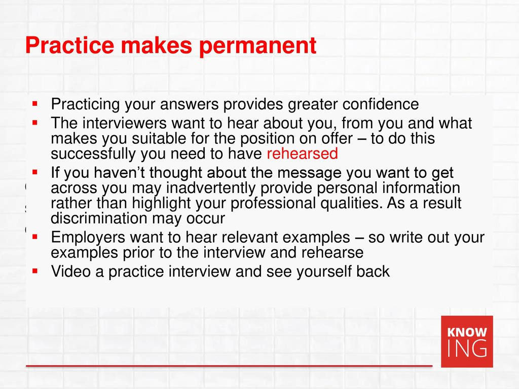 20 practicing your answers provides greater confidence the interviewers want to hear about you from you and what makes you suitable for the position