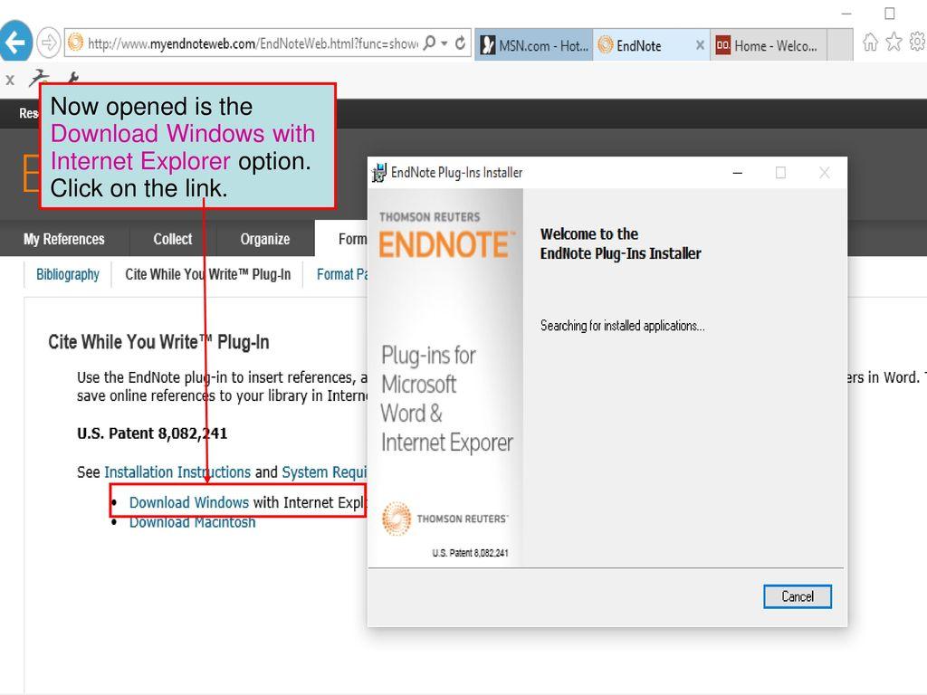 Reference Management Software Tools: EndNote Basic - ppt