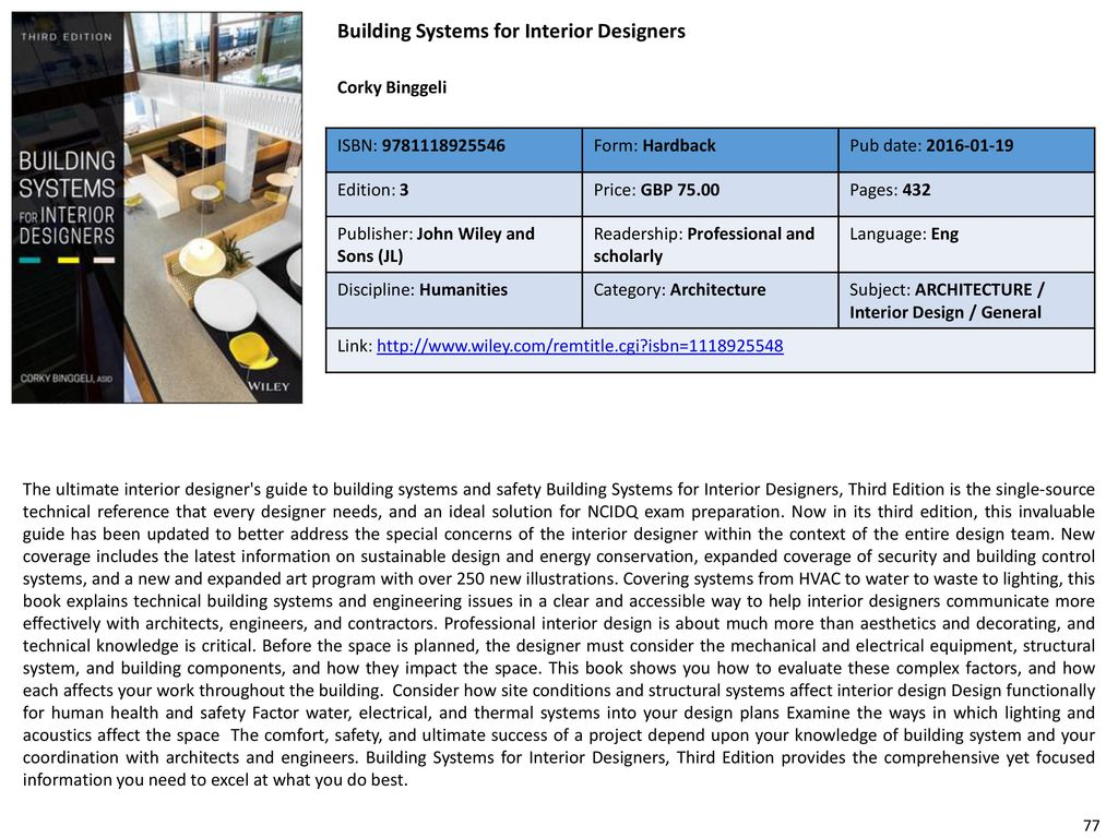 Architecture Bestseller List For Fy2017 Wiley Ppt Download