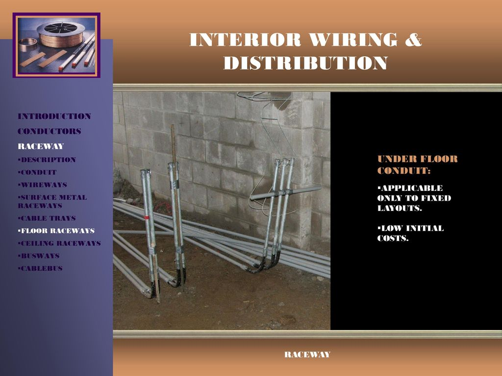 Interior Wiring Distribution Ppt Video Online Download Surface Conduit