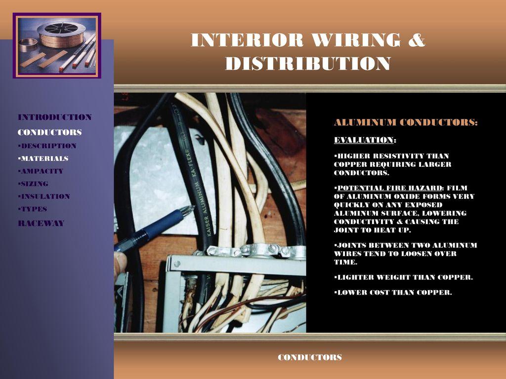 Interior Wiring Distribution Ppt Video Online Download Aluminum Hazards