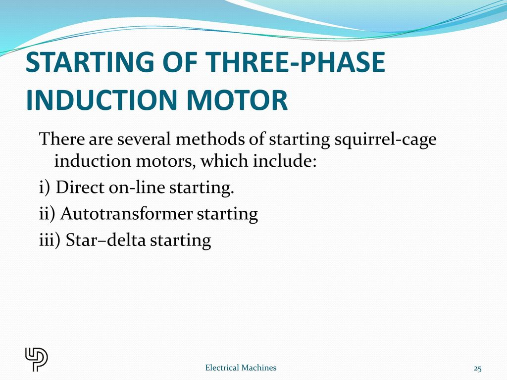 STARTING OF THREE-PHASE INDUCTION MOTOR