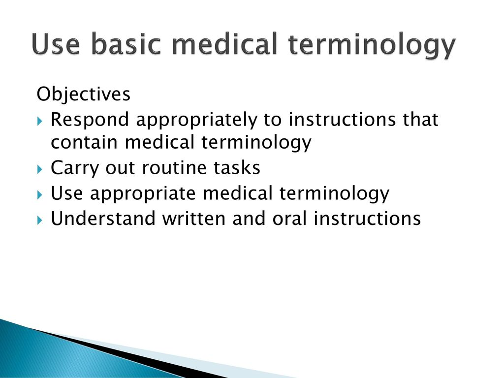 Basic Medical Terminology - ppt download