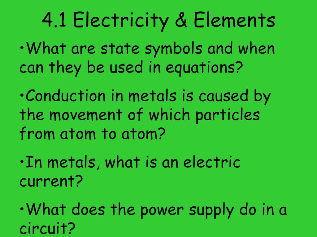 Learning Outcomes Unit 4 Electric Chemistry Ppt Download