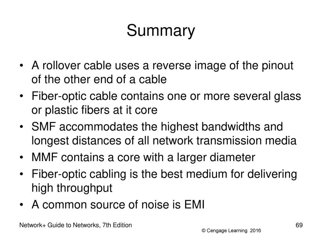 Network Guide To Networks 7th Edition Ppt Download Rollover Cable Diagram Console For Summary A Uses Reverse Image Of The Pinout Other End