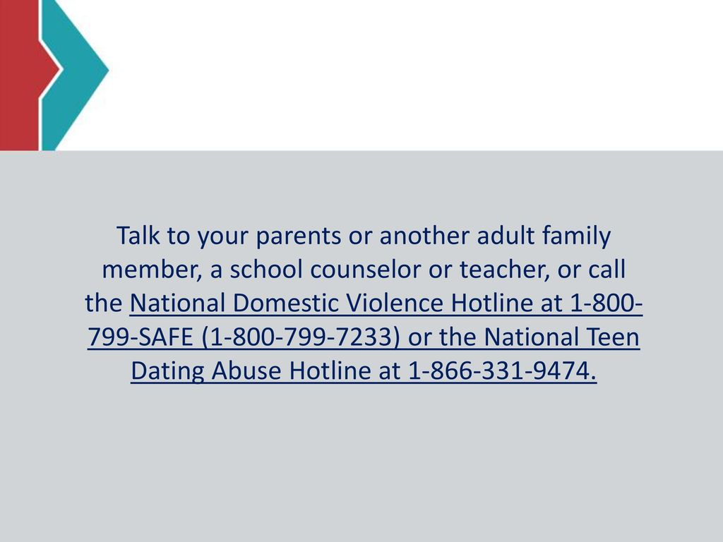 national hotline for dating abuse