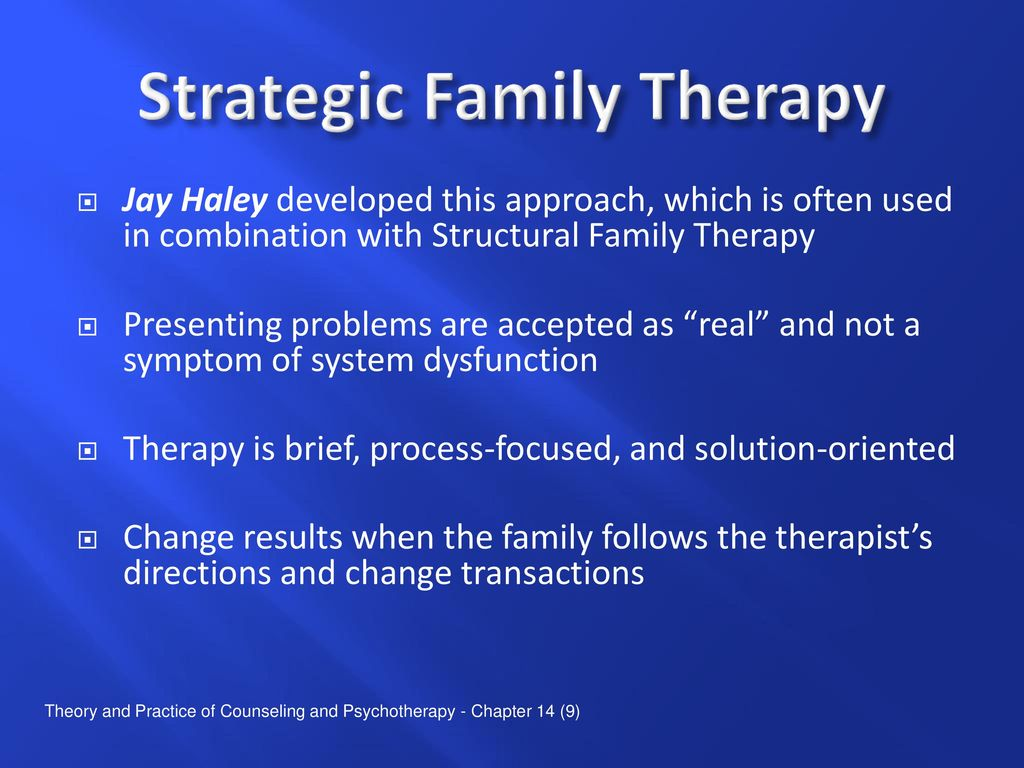 haley strategic family therapy
