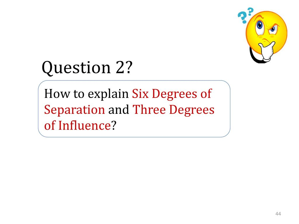 How To Explain Six Degrees Of Separation