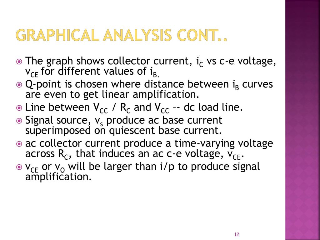 Lecture 1 Basic Bjt Amplifier Ac Analysis Ppt Video Online Download Electronic Circuit And Design Neamen Graphical Cont