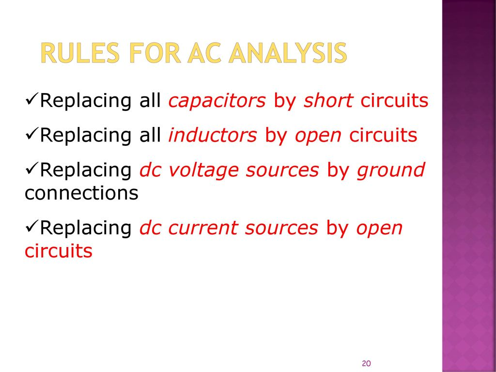 Lecture 1 Basic Bjt Amplifier Ac Analysis Ppt Video Online Download Electronic Circuit And Design Neamen Rules For Replacing All Capacitors By Short Circuits