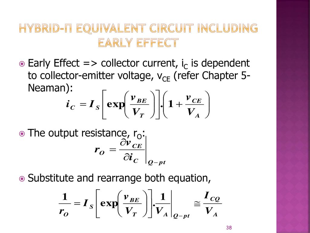 Electronic Circuit Analysis And Design Neamen Download Lecture 1 Basic Bjt Amplifier Ac Ppt Video Online Hybrid Equivalent Including Early Effect