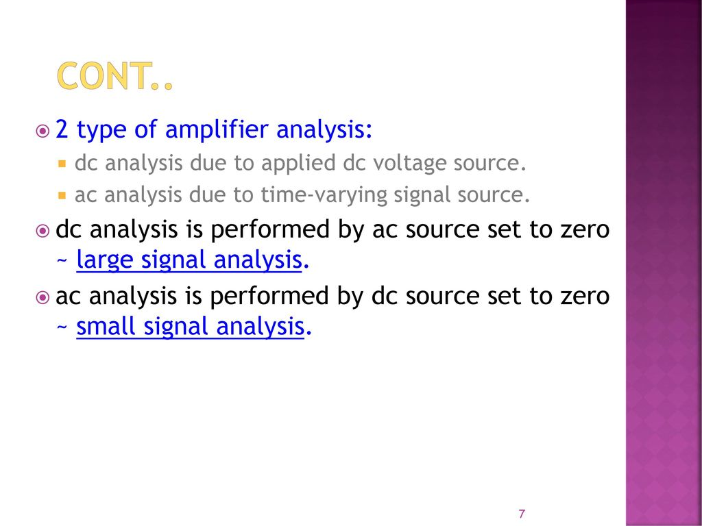 Lecture 1 Basic Bjt Amplifier Ac Analysis Ppt Video Online Download Electronic Circuit And Design Neamen 2 Type Of