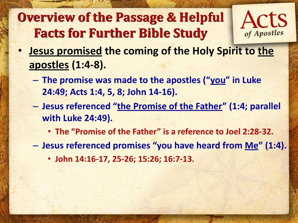 Overview of the Passage & Helpful Facts for Further Bible Study
