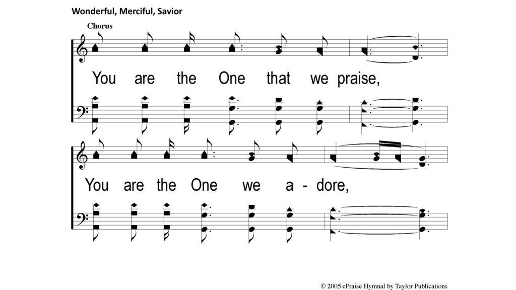 wonderful merciful savior sheet music free download