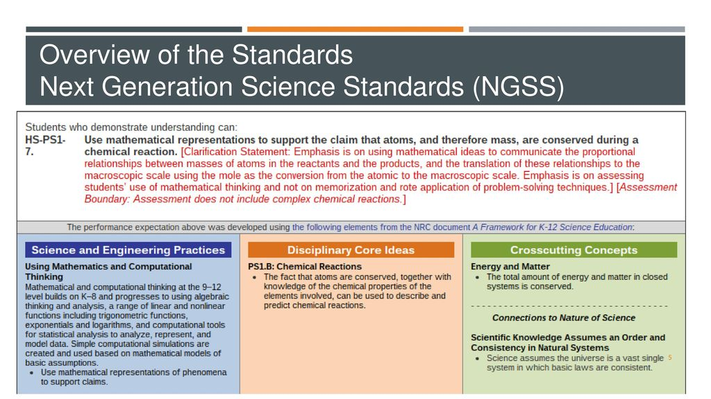NEXT GENERATION SCIENCE STANDARDS HIGH SCHOOL COURSE MODELS