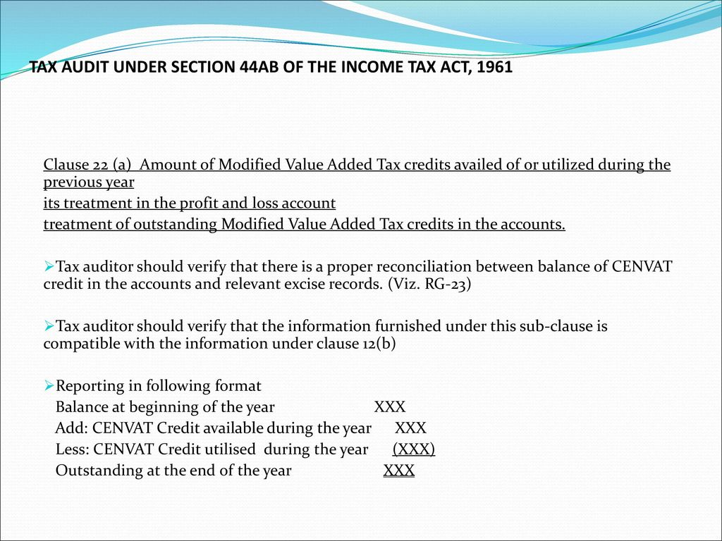Tax Audit under section 44AB of Income Tax Act, ppt download