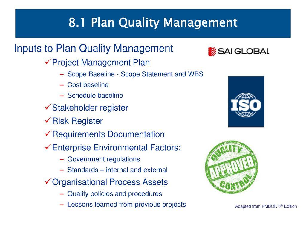 8 1 Plan Quality Management - ppt download