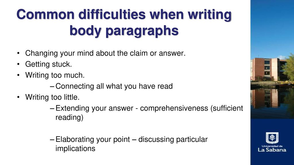 writing body paragraphs Writing strong body paragraphs of a narrative essay  in some ways a narrative essay is the easiest type to write that's because you are telling a story, a narrative.