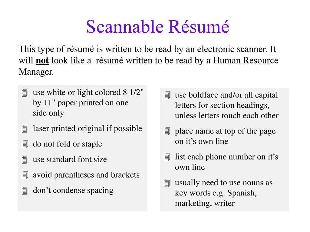 Creative Résumé Techniques for Marketing Your Skills - ppt download