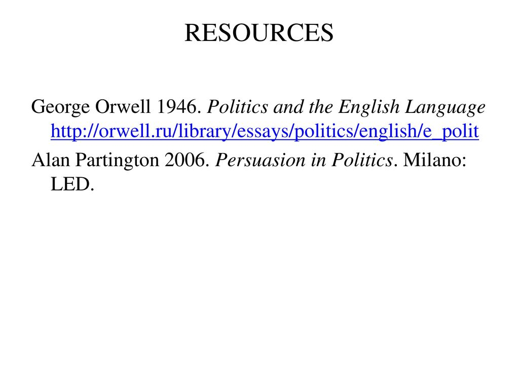 politics and the english language essay   sansurabionetassociatscom politics and the english language essay introduction to political  discourse ppt download