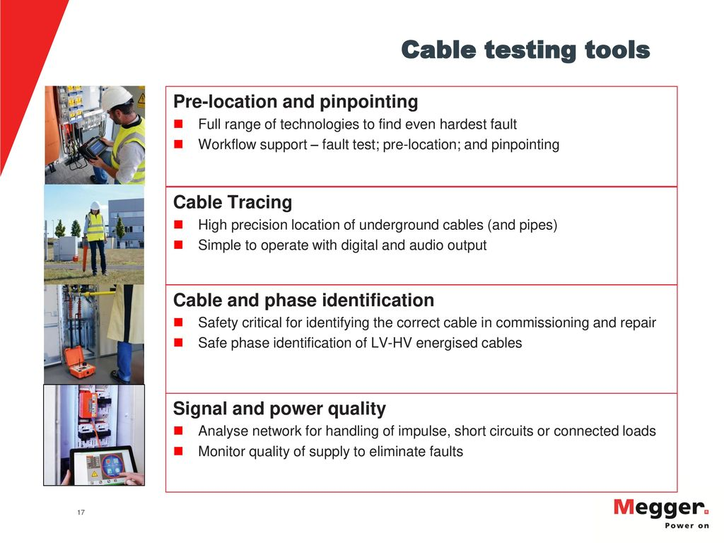 Experience The World Of Megger Electrical Testing Ppt Video Online Related To Injector Cable Circuit Diagram Tester 17