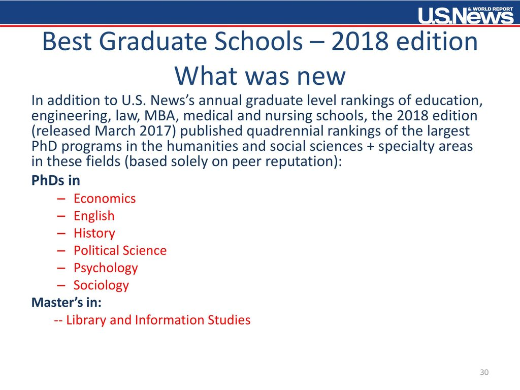 U  S  News & World Report Best Colleges + Other U  S - ppt