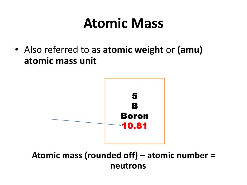 Understanding the periodic table ppt download 5 atomic mass rounded off urtaz Gallery
