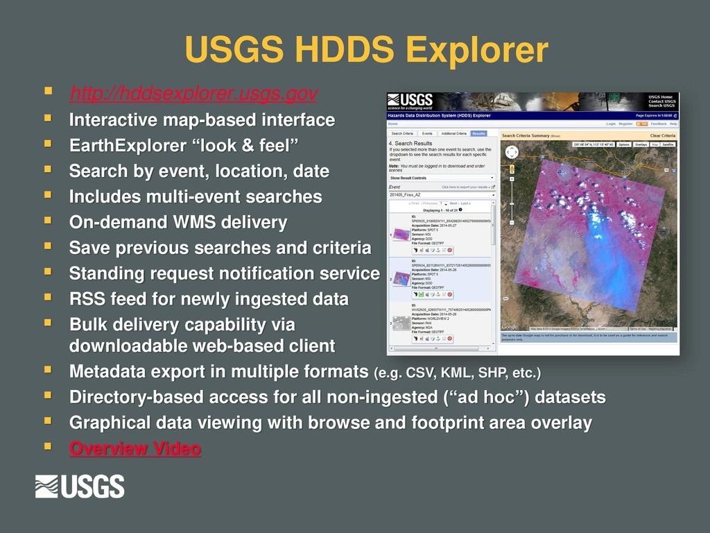 USGS EROS Emergency Operations Management and Distribution