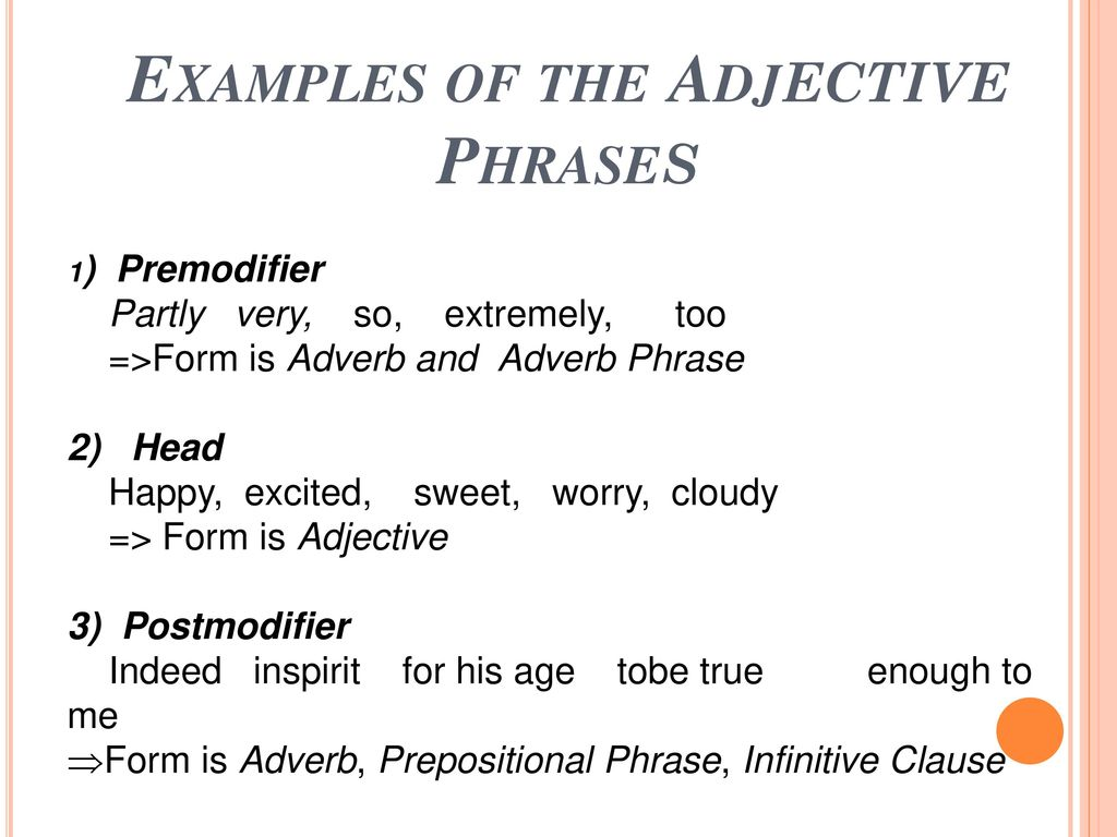 Group presentation Adjective Phrases. - ppt download