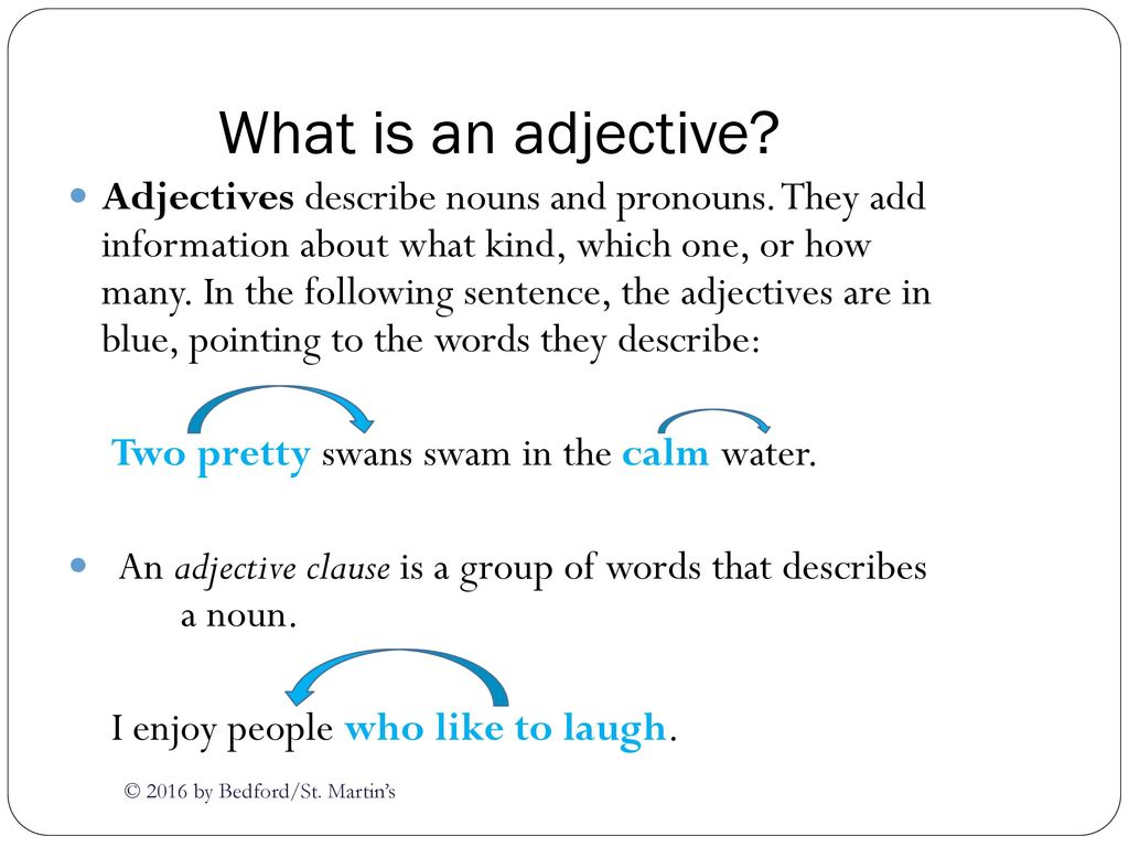 What is an adjective 71