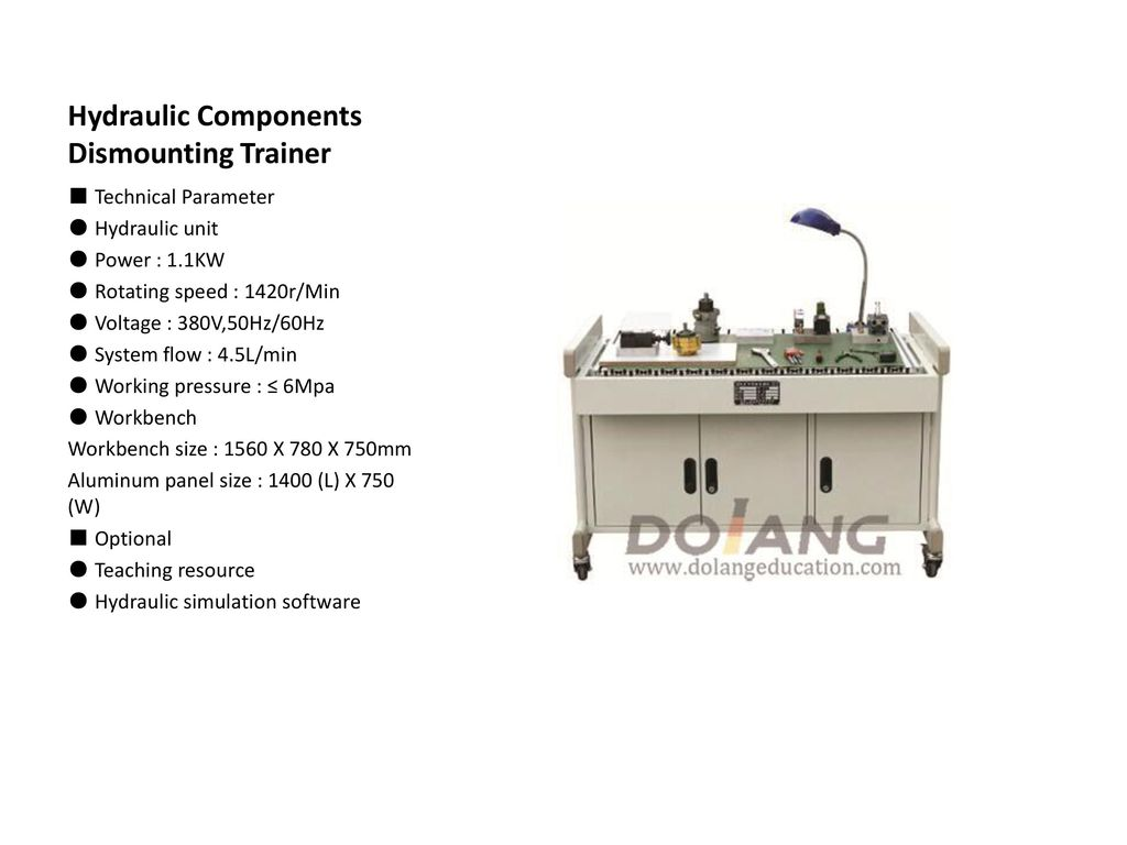 Hydraulic Trainer Ppt Download Electrical Plc Motor Control Hydraulics Training Software 9 Components Dismounting
