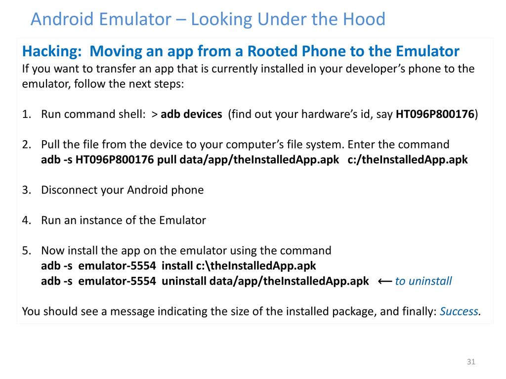 The Command To Install Apk In Android Emulator {Forumaden}