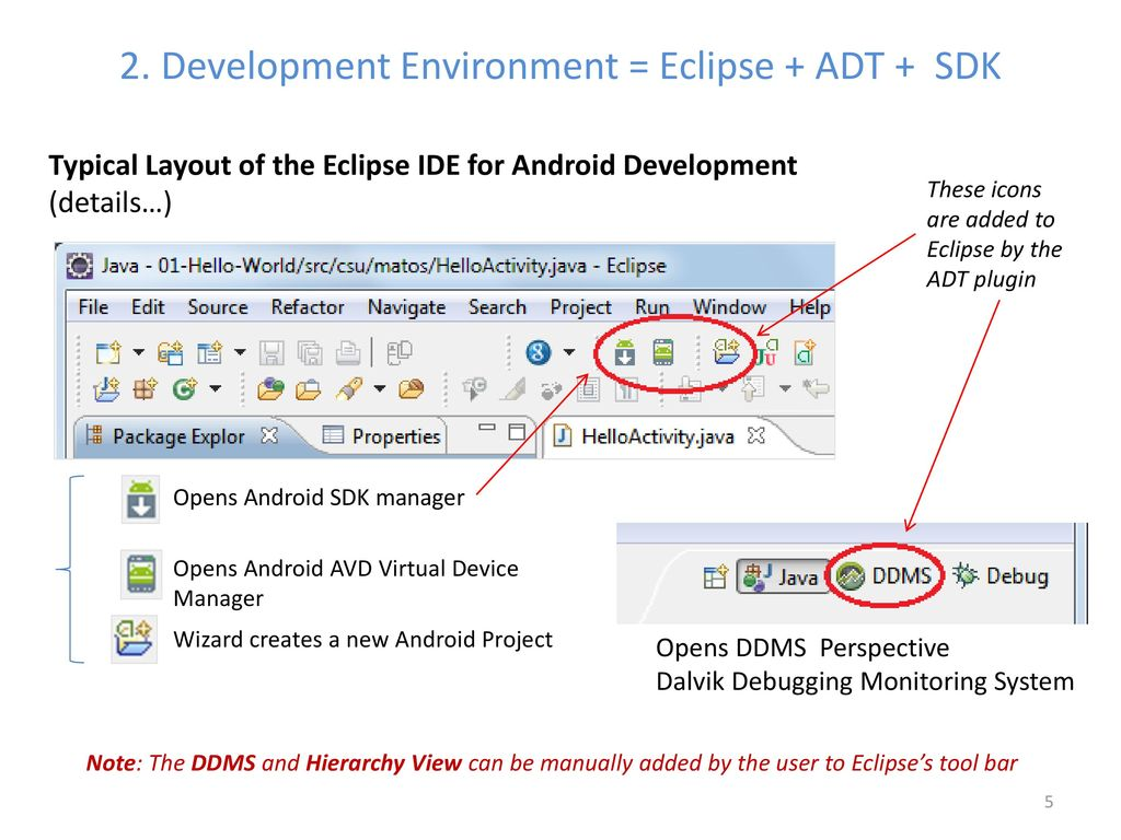 Lesson 2 Android App Development Using Eclipse + ADT + SDK - ppt