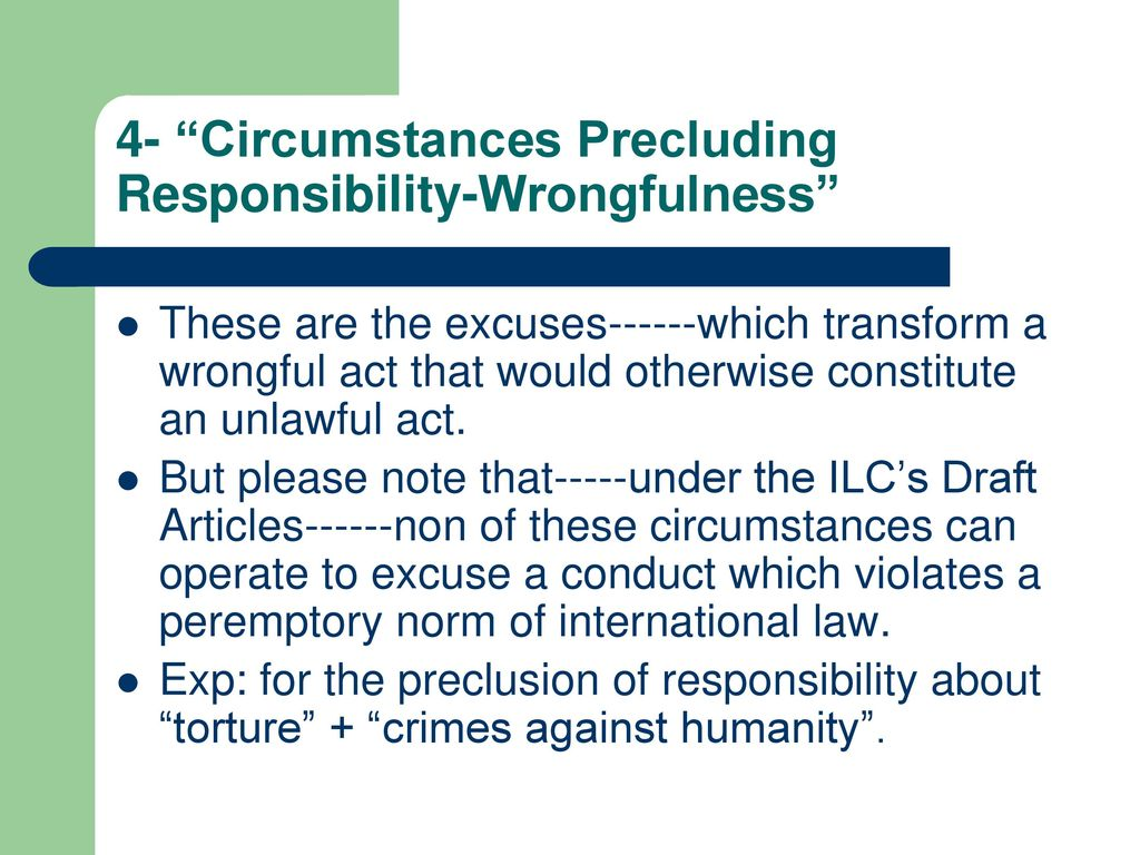 Circumstances precluding the crime of the act