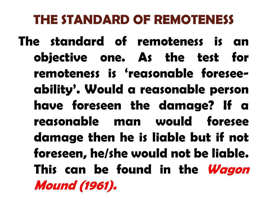 remoteness test