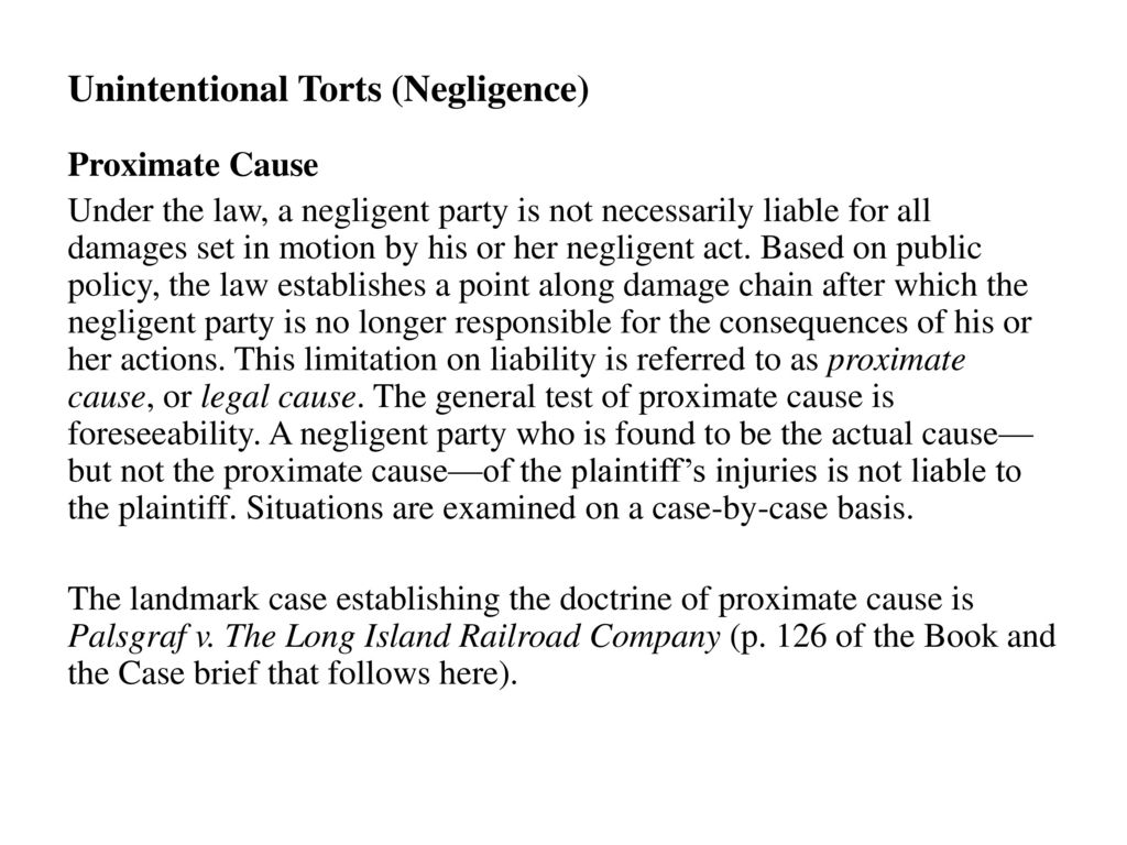 palsgraf v long island railroad brief