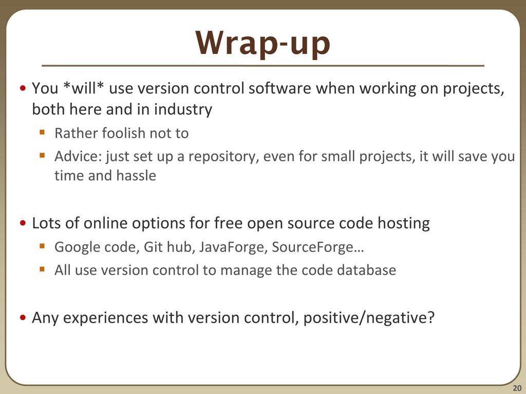 version control software free
