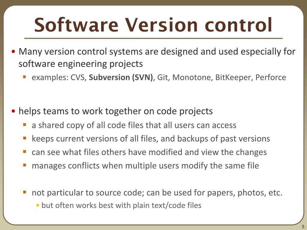 CSE 390 Lecture 9 Version control and Subversion (svn) - ppt