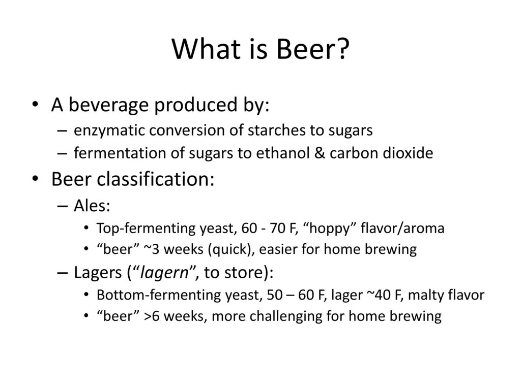 beer classification