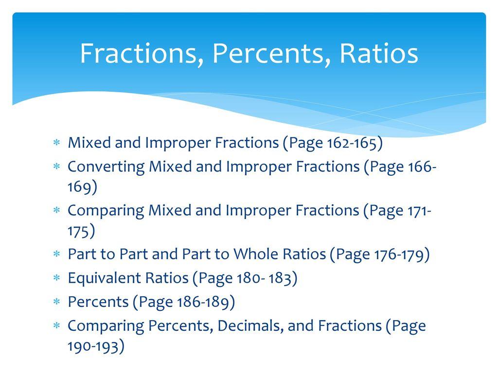 Fractions, Percents, Ratios - ppt download