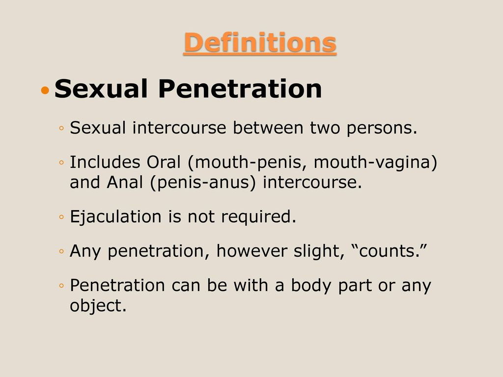 Csc 3rd degree penetration