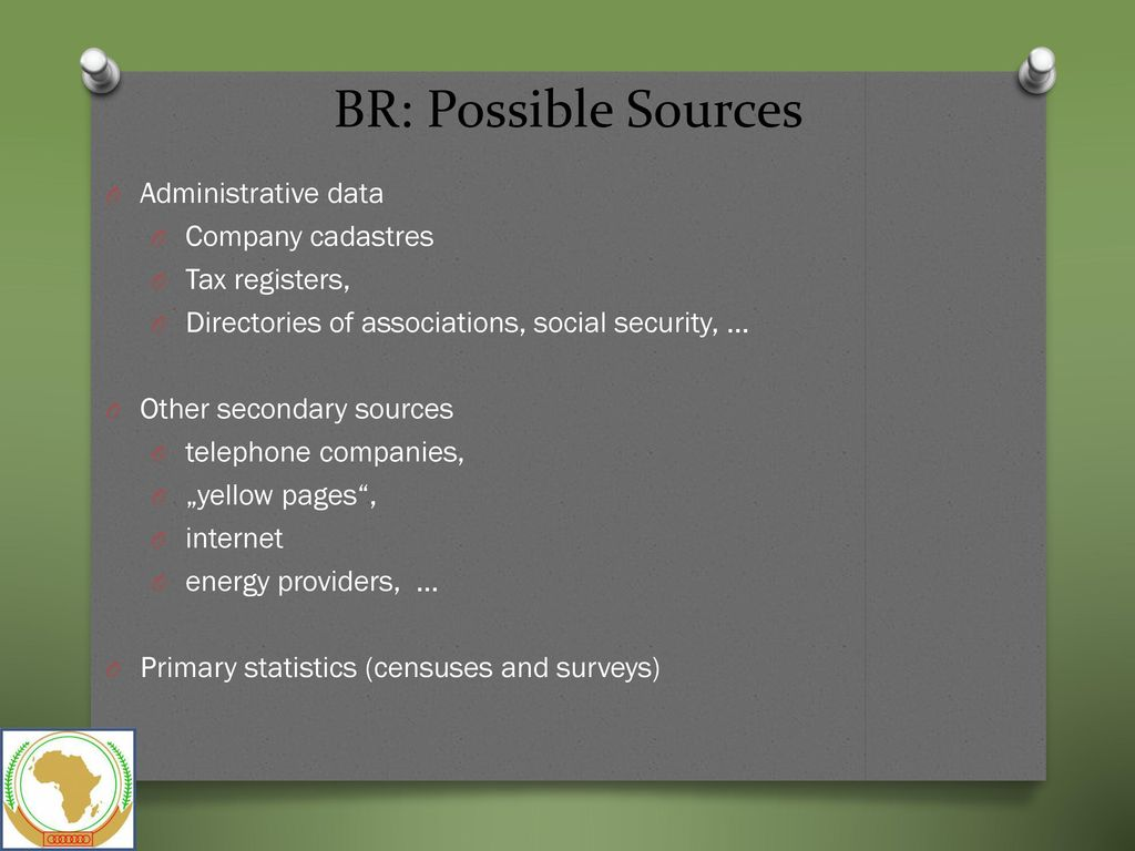 Establishing a Statistical Business Register (BR) - ppt download