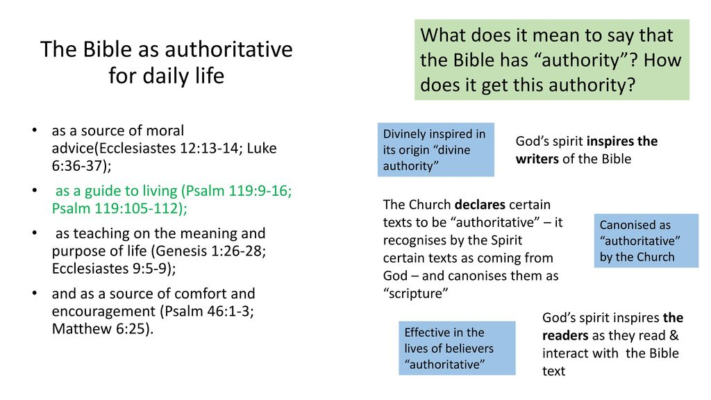 How the Bible is authoritative for daily life - ppt download